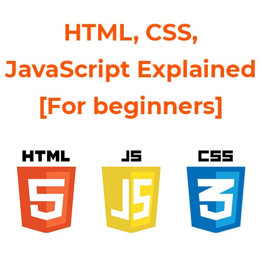 HTML, CSS, JavaScript Explained [For beginners]